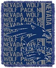 The Northwest Company Officially Licensed NCAA Nevada Reno Wolfpack Double Play Triple Woven Jacquard Throw Blanket, 48