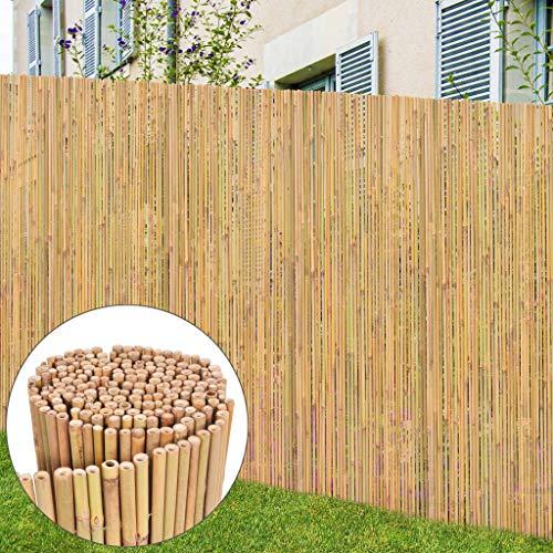 Tidyard Gartenzaun Bambuszaun Dekorative Zaun Sichtschutz Zauntor Gartentor, 250x170 cm Natur