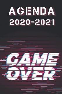 agenda game over 2020 2021: agenda scolaire gaming 2020 2021 - agenda 2020 2021 personnalisable - septembre 2020 2021 - em...