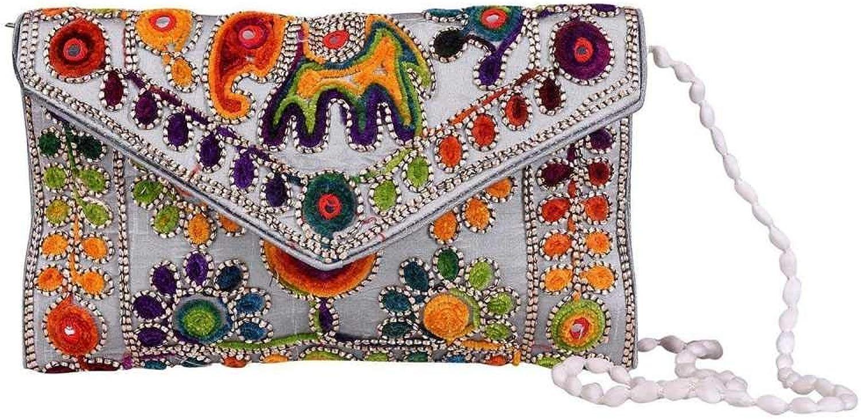 Panchal Creation Wholesale 50 pc lot Bulk Indian Vintage Hand Bag Traditional Bridal Clutch Beaded Shoulder Bag potli Pouch Hand Bag Purses Women Purse by Craft Place M -85