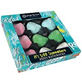 Ginger Lily Farms Botanicals It's 5:00 Somewhere Fizzy Bath Rocks Gift Set, One Ounce Each, 9-Count