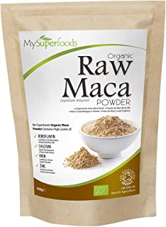 comprar comparacion Polvo De Maca Orgánica (500g), MySuperFoods, Repleto de nutrientes saludables, Antiguo alimento para la salud de Perú, Del...