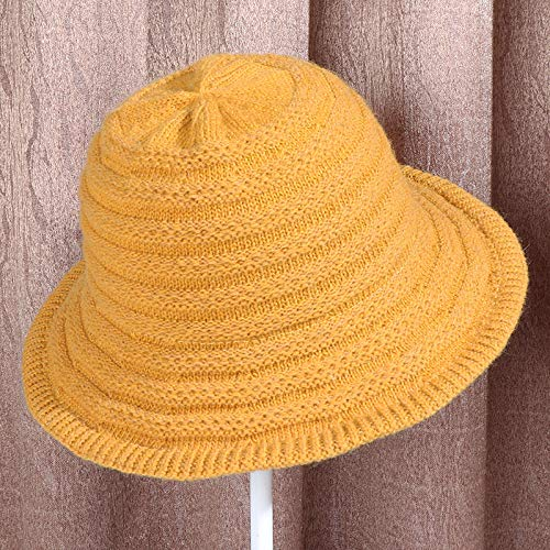 geiqianjiumai Nieuwe tij wol gebreide wollen hoed dames effen kleur outdoor warme brede wastafel cap visser hoed