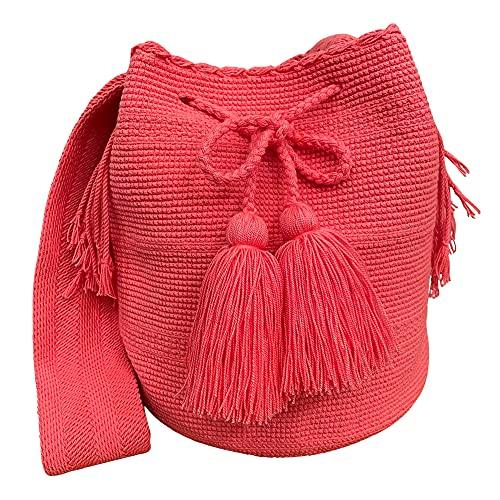 Ancdream Colombia Wayuu Tejido de hilo de algodón Hobo Monederos y bolsos para mujer Bolso de mano Bolso de mujer Monederos grandes Bolsos de hombro de uso diario Color 47#