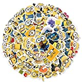 Minions Stickers Pack of 50 Stickers for Laptops Computers, Hydro Flasks, Skateboard,Travel Case,Phone,Fridge Waterproof Kids Toy Stickers