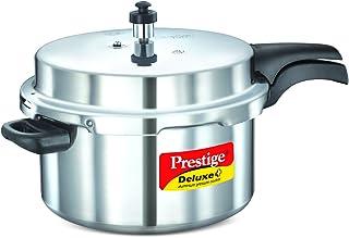 Prestige Deluxe Plus Induction Base Aluminium Pressure Cooker Silver 7.5L (Mpd10703), Aluminum Material