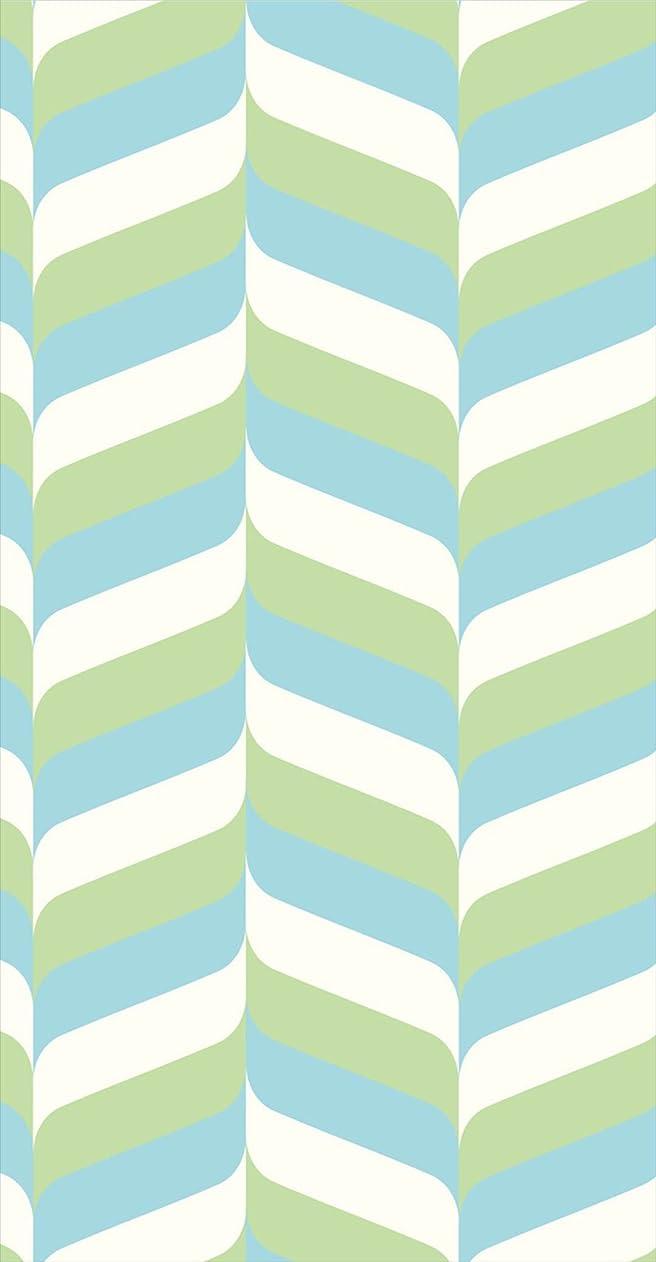 ポスター ウォールステッカー 長方形 シール式ステッカー 飾り 30×16cm Ssize 壁 インテリア おしゃれ 剥がせる wall sticker poster 木目 黄緑 水色 模様 007014