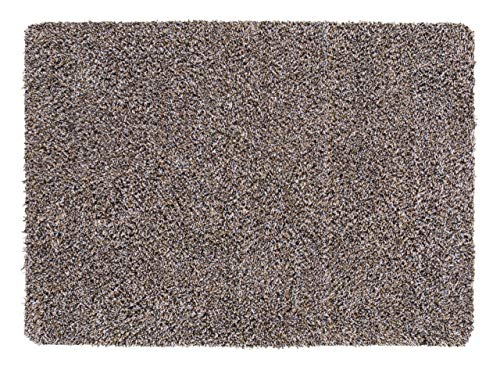 andiamo Schmutzfangmatte Sauberlaufmatte Fußmatte - Indoor/Outdoor Matte - waschbar, in 4 Farben erhältlich, Farbe:Beige, Größe:60 x 100 cm