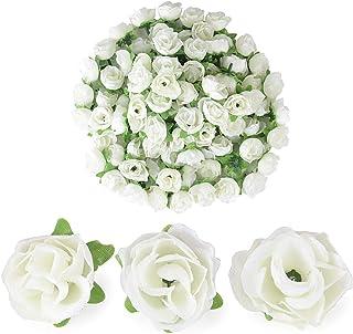 Famibay Bianca Rose Artificiali per San Valentino18 Teste Seta Rose Finte Set di 2 per Decorazioni Bomboniere