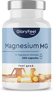 Premium Magnesiumcitraat - Vergelijking Winnaar 2020* - 200 veganistische capsules - 2400mg magnesiumcitraat (360mg elemnt...