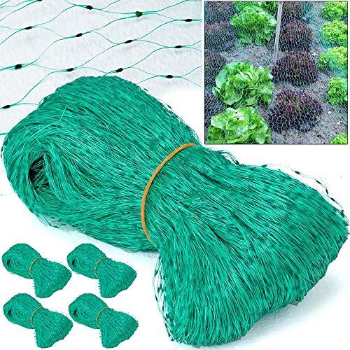 Deuba Vogelschutznetz 100m² | 5 Stück á 4 x 5 m | Vogelnetz Laubschutznetz Gartennetz Obstbaumnetz Teichnetz Teichschutz