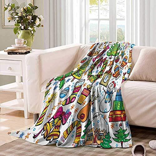 Annays Fleece deken Nieuwjaar snoepjes speciale kwaliteit kerst gooien deken Fleece deken zachte warme 102X127Cm flanel deken