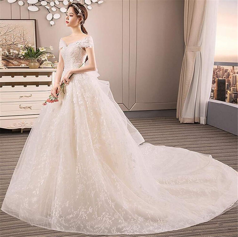 Bridal Dress Wedding Dresses Ladies Dress Bride Off Shoulder Strapless Long Trailing Formal Party Princess Skirt