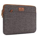 DOMISO 15.6 Zoll Laptophülle Hülle Sleeve Case Etui Notebook Schutzhülle Canvas-Gewebe Tasche für 15.6