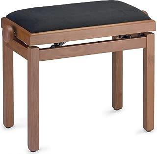 Stagg PB39 CHM VBK Piano Bench - Matte Wild Cherry with Black Velvet Top