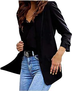catmoew Blazer Mujer Talla Grande Elegante OL Casual OtoñO Slim Fit Oficina Negocios Chaqueta Mujer Chaqueta Básica Ajustada