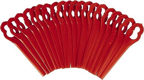 Einhell Original Juego de cuchillas de recambio de para cortacéspedes (20 piezas, adecuadas para GE-CT 18 Li Kit, GE-...