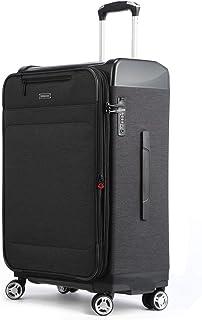スーツケース 機内持込 拡張機能 防水加工 超軽量 TSAロック ソフトケース ビジネス 出張 静音 8輪 キャリーケース 旅行 37l 65l キャリーケース ブラック ブルー