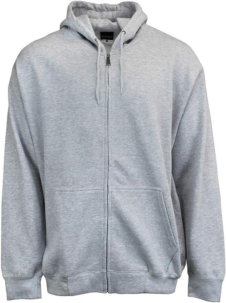River's End Mens Full Zip Hoodie Athletic Sweatshirt - Grey