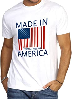 Men's 4th of July Independence Day America Flag Print Short Sleeve O-Neck Shirt Tops Blouse Patriotic tee
