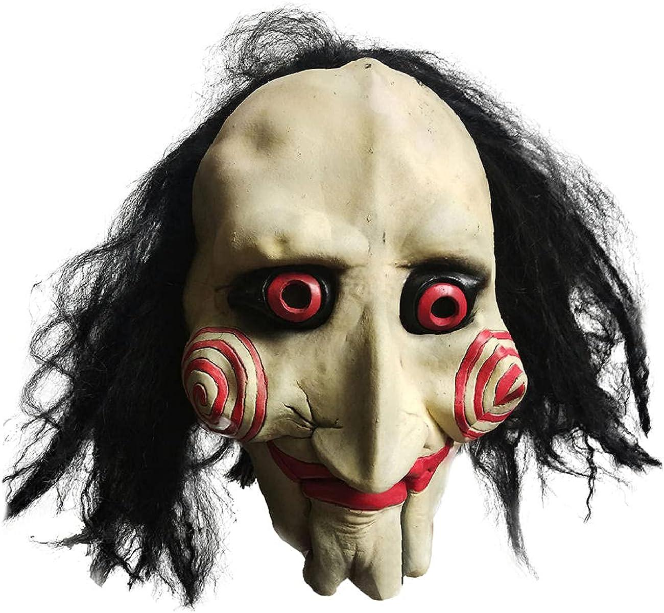 Máscara de Halloween Máscara de Terror Festival Fantasma Viste a Fiesta Anual Rendimiento de Pelo Largo Motosierra Madman Máscara