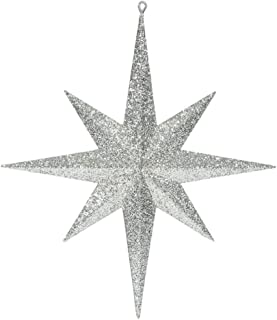 Vickerman M167538 Plastic Iridescent Glitter Bethlehem Star, 15.75