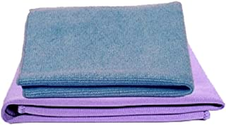 Norwex Basic Package - Microfiber Antibacterial - Glass Window Cleaning Cloth and Household Enviro Dusting Cloth (Blue envirocloth and purple window cloth)