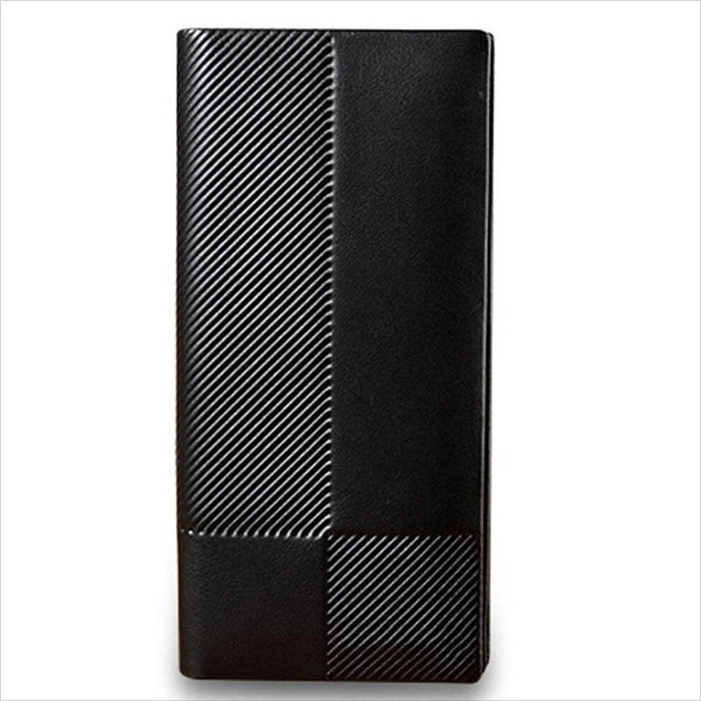Sumferkyh Brieftasche Herren Lange Leder Geldbörse Öffnen 2-Fach Herren Geldbörse Schwarz Ledergeldbörse für Krotitkarten, Ausweise B07KXB73ZJ