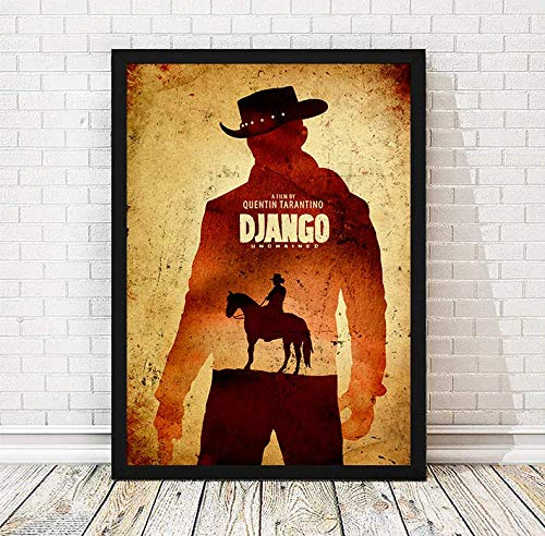 Quentin Tarantino Django Unchained Minimalist Movie Poster, Artwork Print, Cafe Decor, Office Decor, Wall Hanging, Home Decor, Unframed Print
