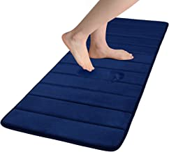 Colorxy Memory Foam Bath Mat - Soft & Absorbent Bathroom Rugs Non Slip Large Bath Rug Runner for Kitchen Bathroom Floors 2...