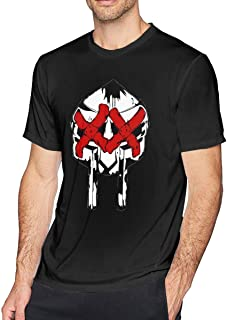 OMMIIY Men's Portfolio Mf Doom Icon Logo T-Shirt