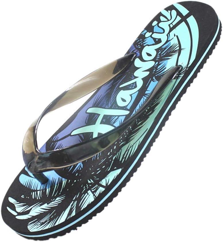 NYKK Shower Shoes Men's Flip-Flops Summer Slippers Fashion Rubber Sandals Non-Slip Beach Shoes flip Flop (Color : Blue, Size : 8#)