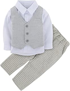 A&J DESIGN Baby Boys Tuxedo Romper Jacket Sets