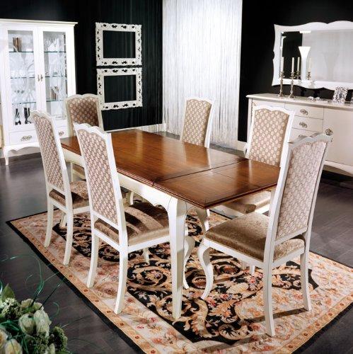 Arteferretto Table rectangulaire à rallonges cm 170-220