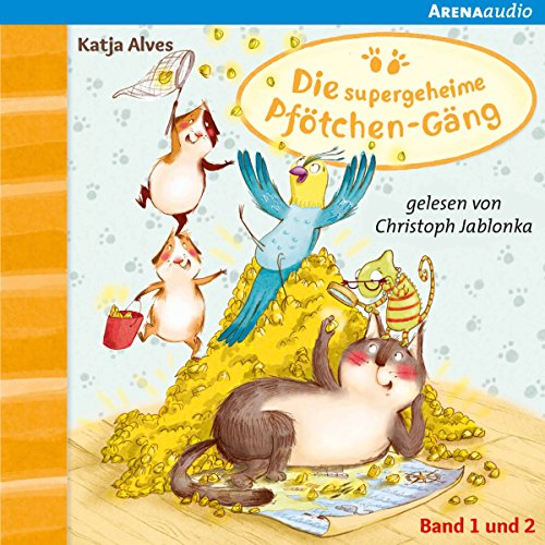 Der Zwei-Millionen-Körnerschatz / Die geheimnisvolle Glückskatze (Die supergeheime Pfötchen-Gäng 1 & 2) audiobook cover art