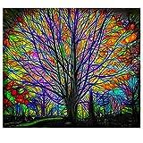 KHKJ El Tapiz de árbol de Setas mágicas en el Bosque de los sueños, Adecuado para Sala de Estar y Dormitorio A6 200x150cm