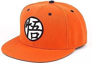 DGZ 棒球帽帽子热门动漫帆布后扣帽嘻哈平可调节帽子(橙色)