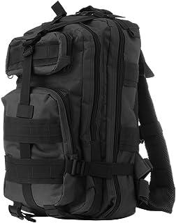 WINOMO Mochila pequena mochila para caminhada ao ar livre mochila Molle mochila masculina de combate 20-35L (Preta)