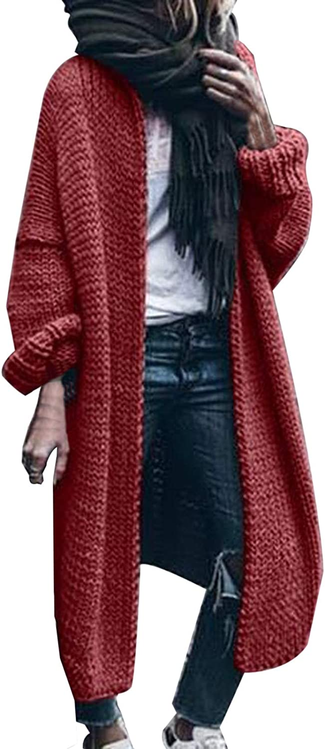 NREALY Women Latest item Long Sleeve Pure Color Cardigan Sweater Loose Genuine