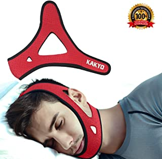 Anti Snoring Chin Strap -KAKYO New Upgrade Most Effective Snoring Solution and Face-Lifting Artifact - Snoring Belt(Red)