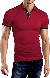 قمصان بولو قصيرة وطويلة الأكمام للرجال من KUYIGO قمصان قطنية بتصميم نحيف