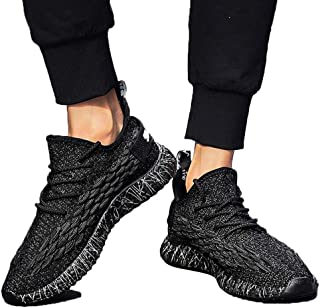 ACHICOO Men Fish Scales Pattern Delicate Knit Breathable Elastic Sneakers
