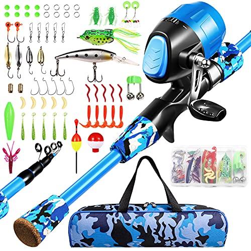 Annleor Kids Fishing Pole - Telescopic Fishing Rod and Reel Combo Kit...