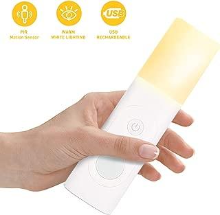 TASMOR 3-in-1 Rechargeable LED Motion Sensor Night Light, Standing LED Night Light, Handheld Emergency Flashlight PIR Bedside Lamp for Bedroom, Bathroom, Baby Room, Stairs etc
