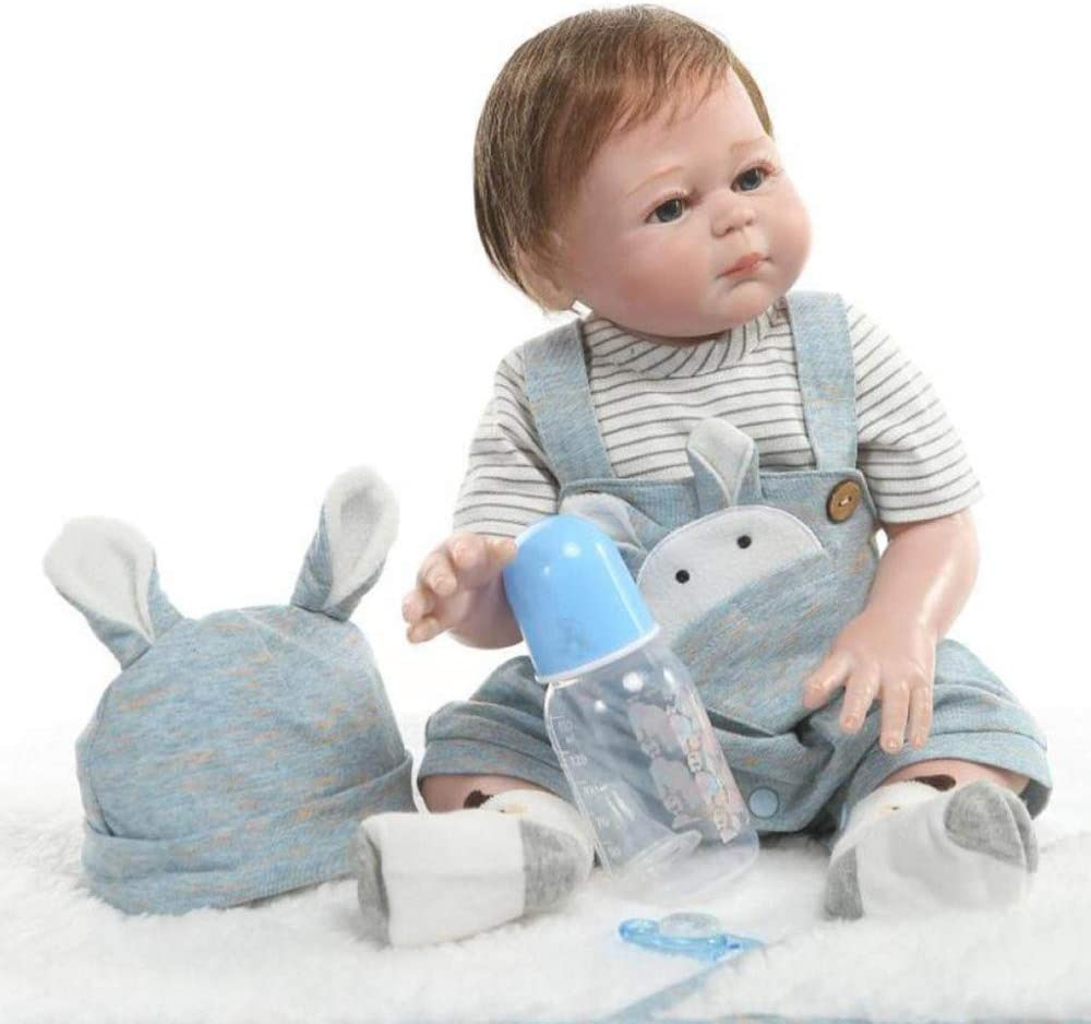 Large-scale sale YIHANGG 50cm Lifelike Reborn Baby Doll Real New product Look Body Full Silic