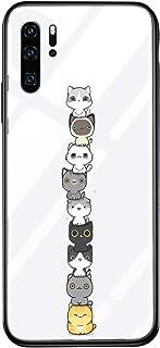 Alsoar - Carcasa de repuesto para Huawei P20 Lite, transparente, silicona, antiarañazos, parte trasera con marco suave, diseño de animales