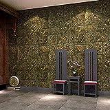 Antiguo Egipto Tallado Wallpaper_Retro Antiguo Egipto Tallado Papel pintado Secret Room Escape Café Pared Pintado Papel tapiz 3D Decoración dormitorio Fotomural sala sofá pared mural-300cm×210cm