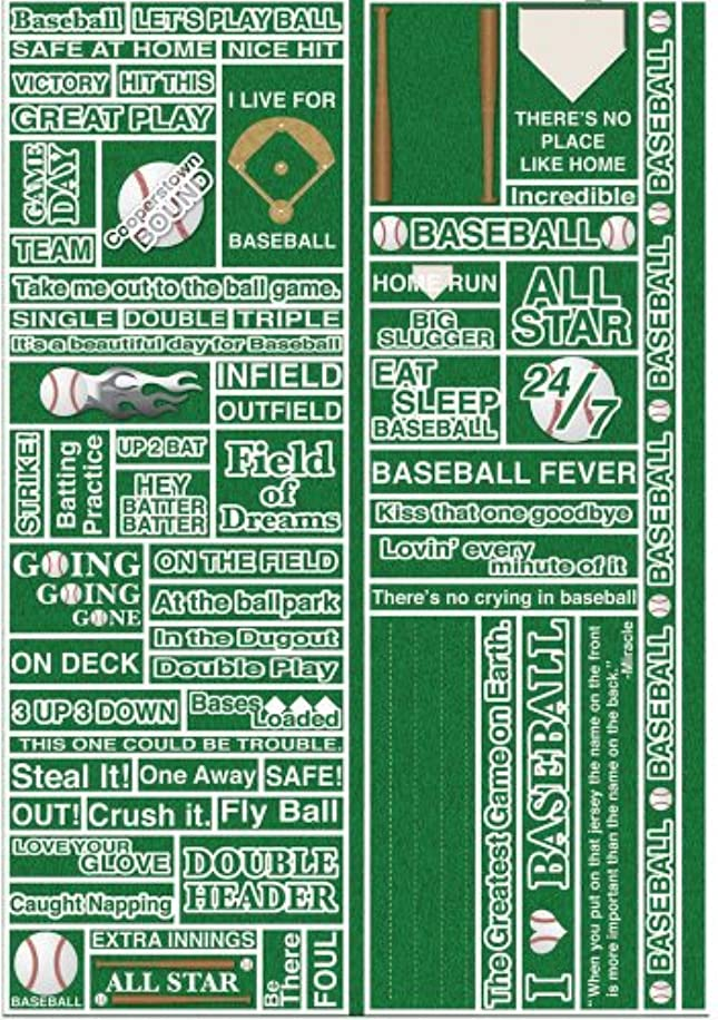 Reminisce Real Sports Quote Sticker, Baseball