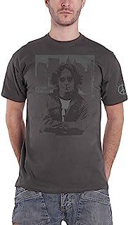 John Lennon T Shirt Denim Skyline Logo Nouveau Officiel Homme Charcoal Gris