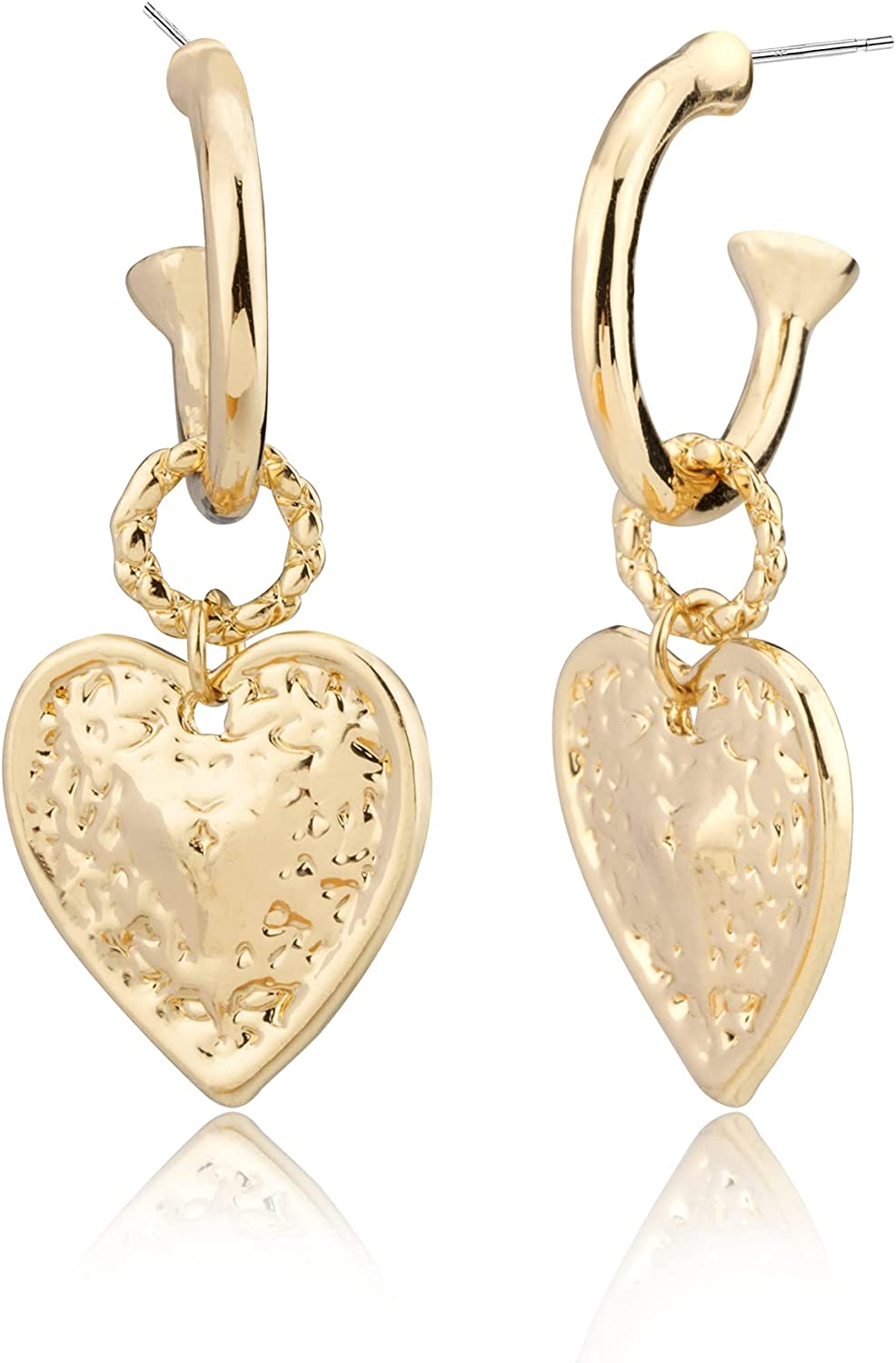 Bcrown 14K Gold Plated Heart Drop for Women S Sterling Bombing free Minneapolis Mall shipping Earrings